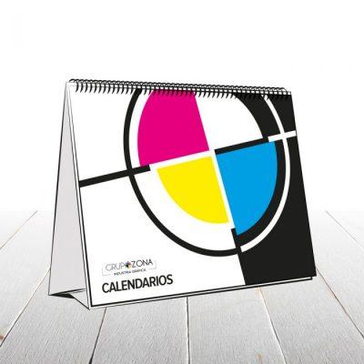 Calendario de sobremesa personalizado a todo color - Calendario wire-o personalizado Grupo Zona