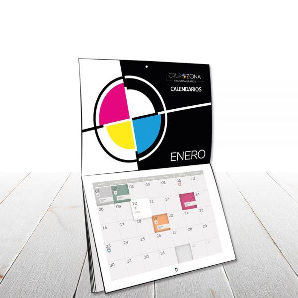 Calendarios de pared personalizados - calendarios grapados tipo revista Grupo Zona