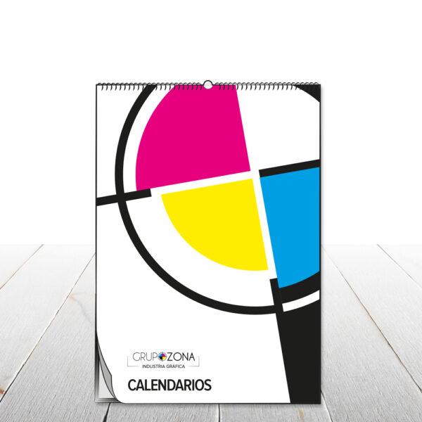 Calendarios de pared wire-o con colgador - Calendarios con colgador Grupo Zona