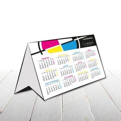 Calendarios simples de sobremesa - Calendarios simples troquelados Grupo Zona