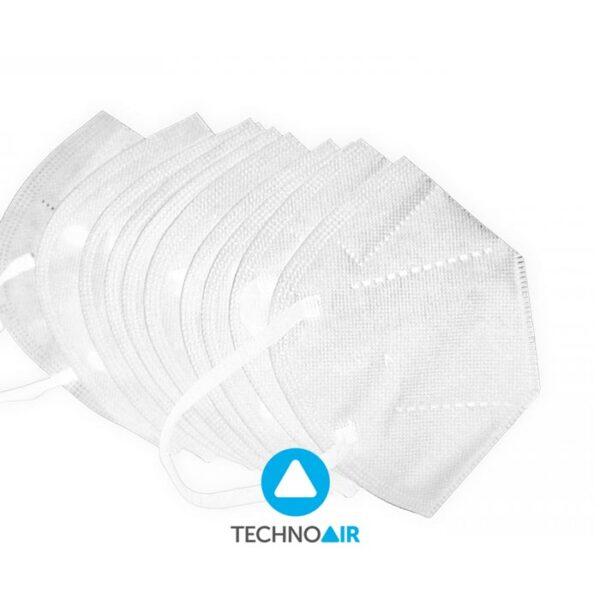 Mascarillas TechnoAir reutilizables color blancas cantidad options Grupo Zona