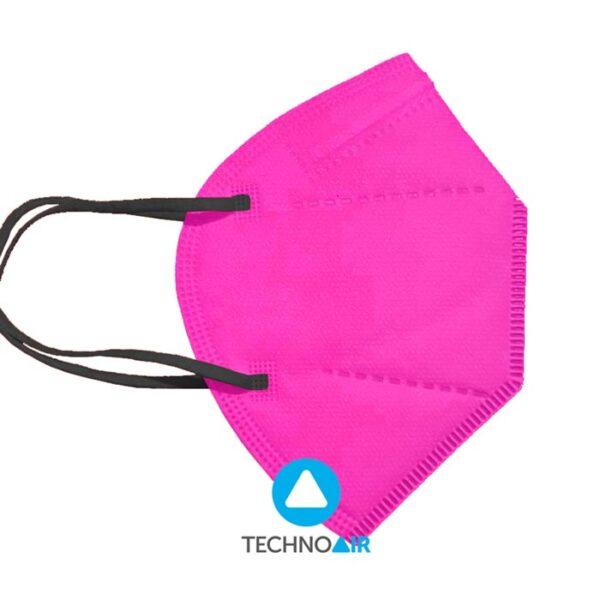 Mascarillas TechnoAir reutilizables color fucsia Grupo Zona