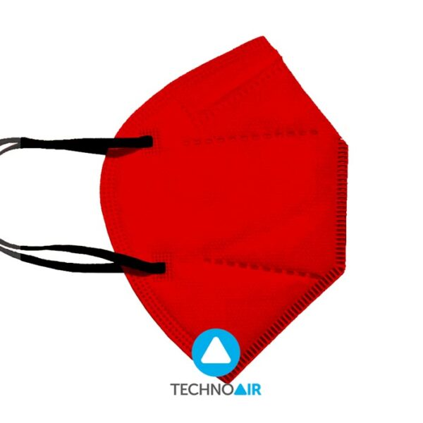 Mascarillas TechnoAir reutilizables color rojo Grupo Zona
