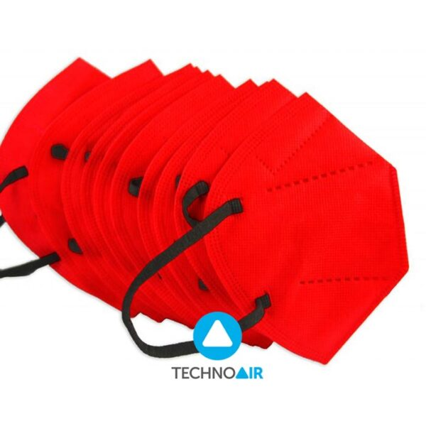 Mascarillas TechnoAir reutilizables color rojo cantidad options Grupo Zona