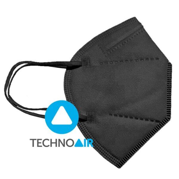 Mascarillas higiénicas Techno Air FFP2 Negras Grupo Zona
