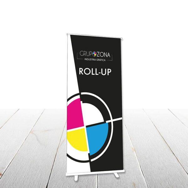 Rollup display publicitarios para campañas, eventos y conferencias
